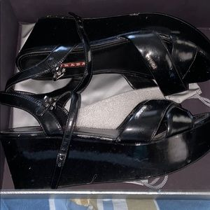 Genuine Prada patent leather shoes